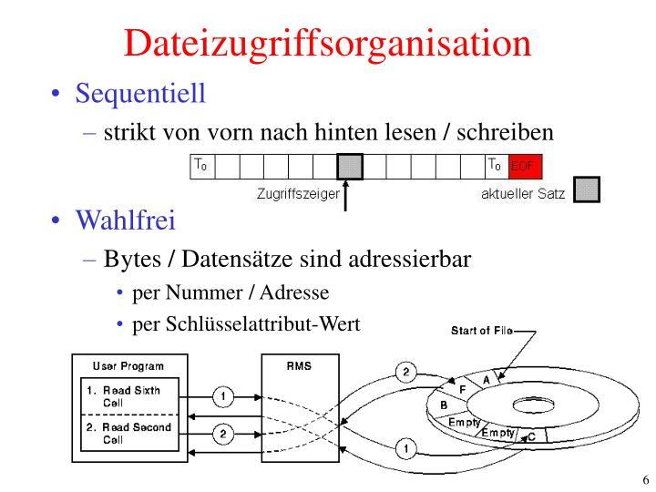 Dateizugriffsorganisation