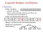 logische struktur von dateien