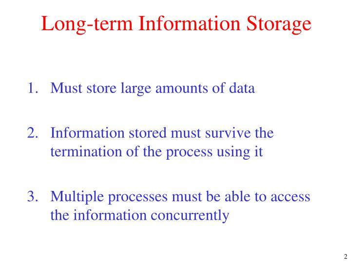 Long-term Information Storage