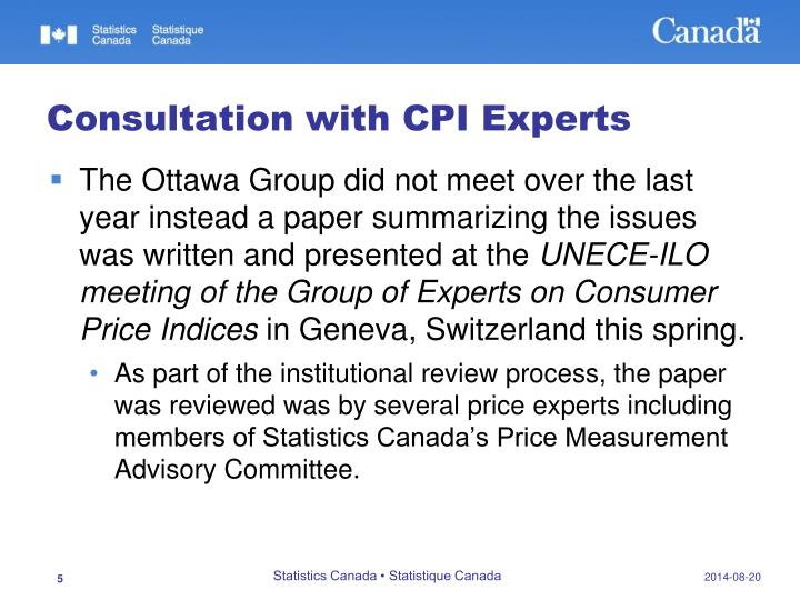 Consultation with CPI Experts