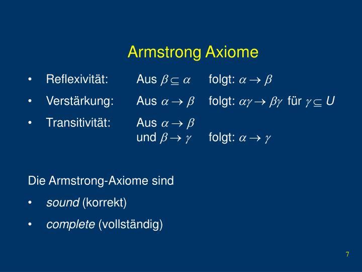 Armstrong Axiome
