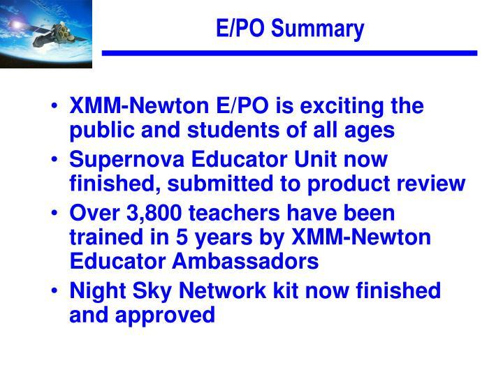 E/PO Summary