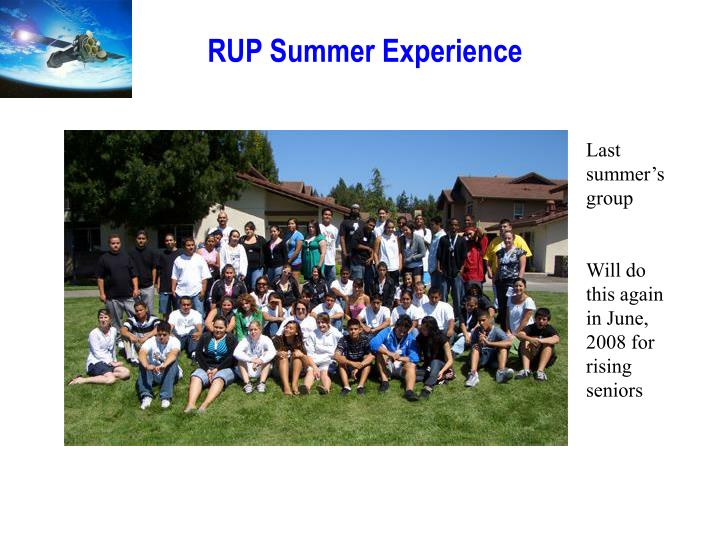 RUP Summer Experience