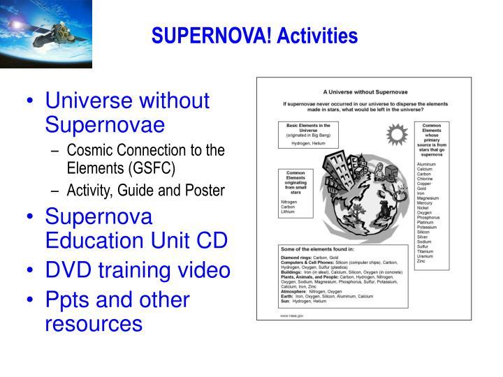 SUPERNOVA! Activities