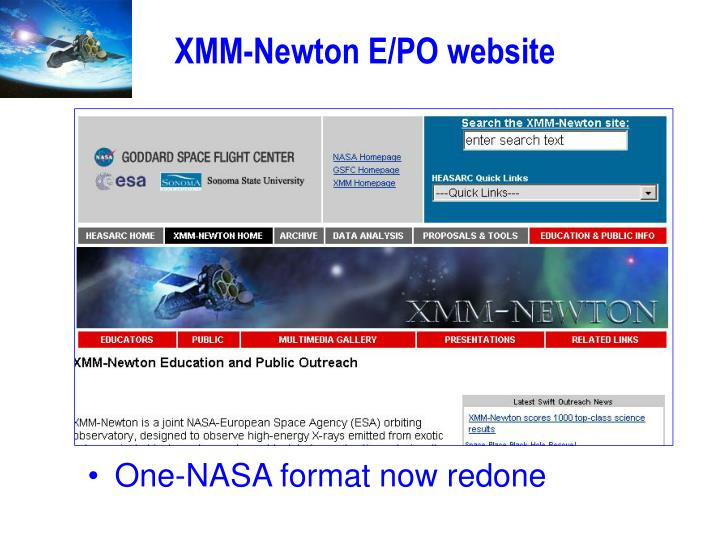 XMM-Newton E/PO website