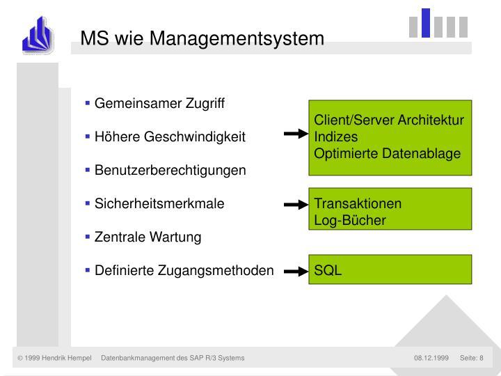 MS wie Managementsystem
