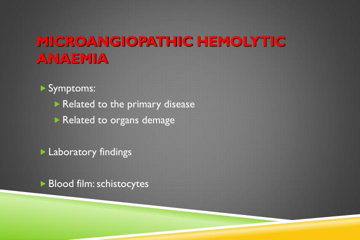 Microangiopathic