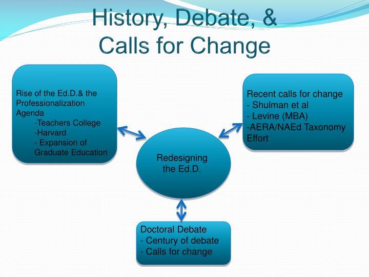 History, Debate, &