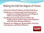 making the edd the degree of choice