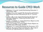 resources to guide cped work