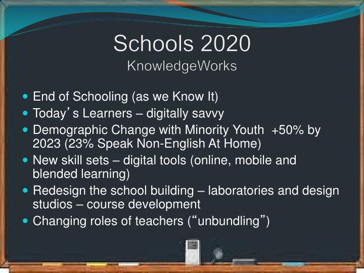Schools 2020