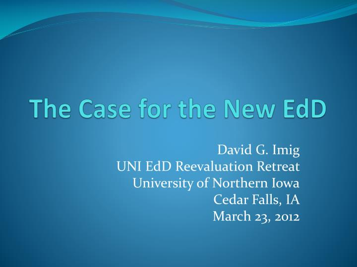 the case for the new edd
