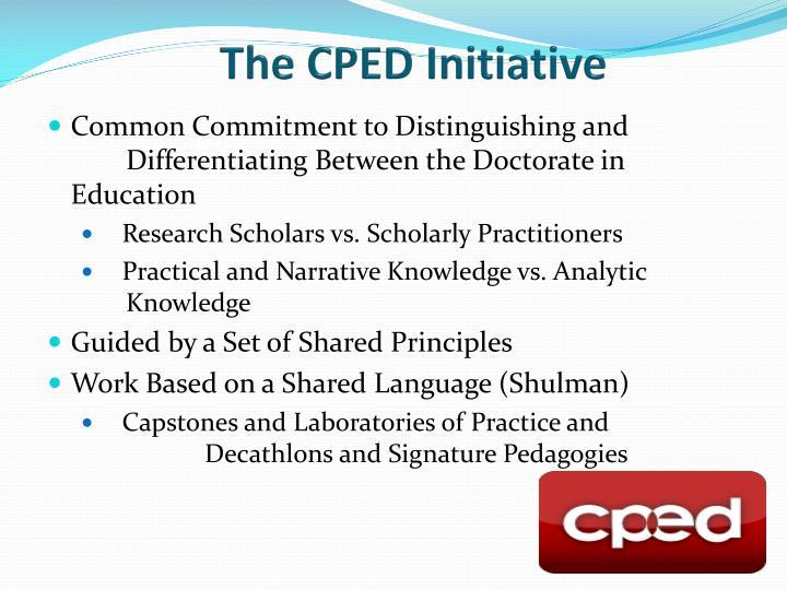 The CPED Initiative