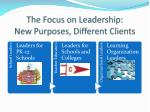 the focus on leadership new purposes different clients