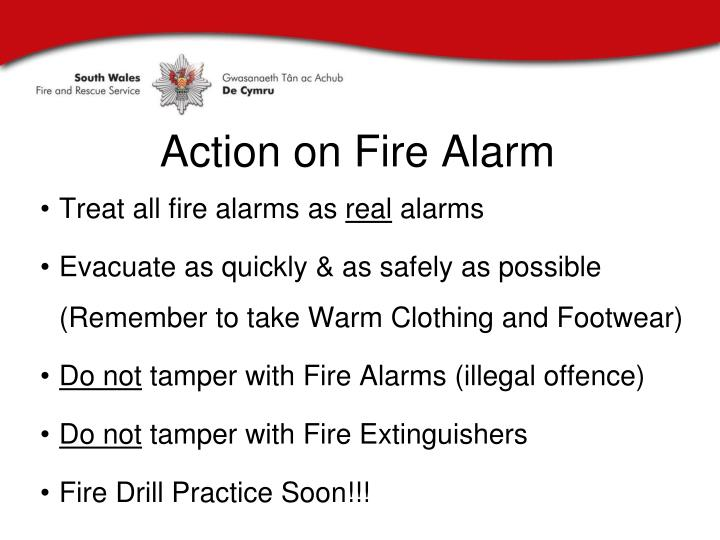 Action on Fire Alarm