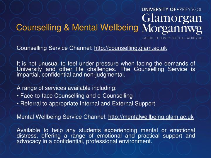 Counselling & Mental Wellbeing