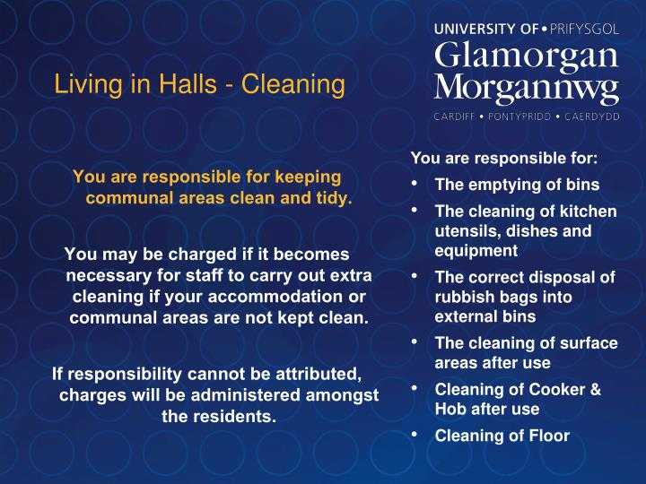 Living in Halls - Cleaning