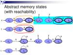 abstract memory states with reachability