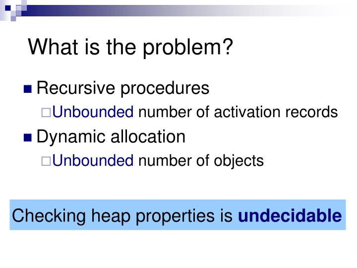Checking heap properties is