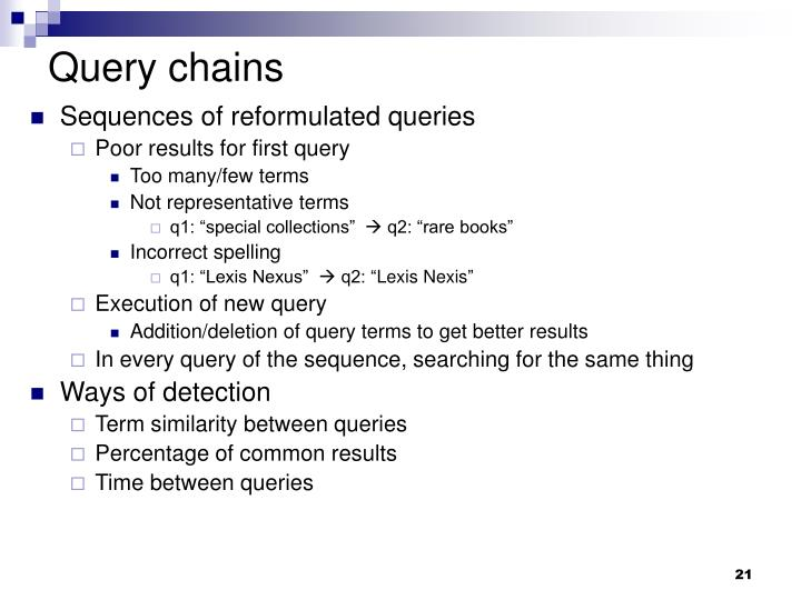 Query chains