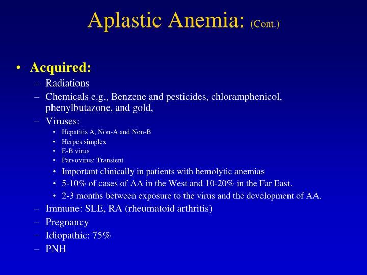 Aplastic Anemia: