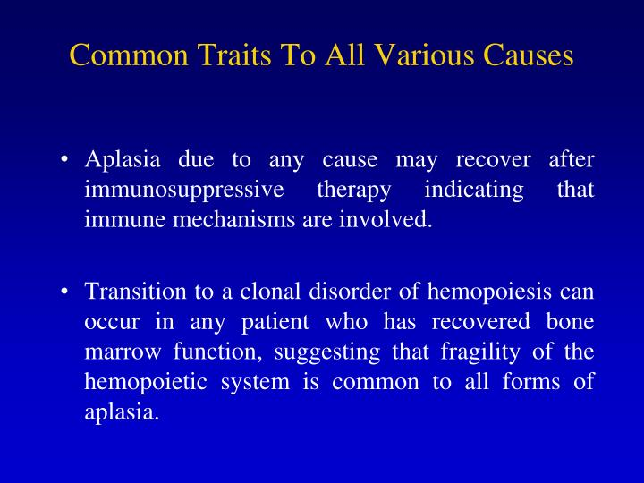 Common Traits To All Various Causes
