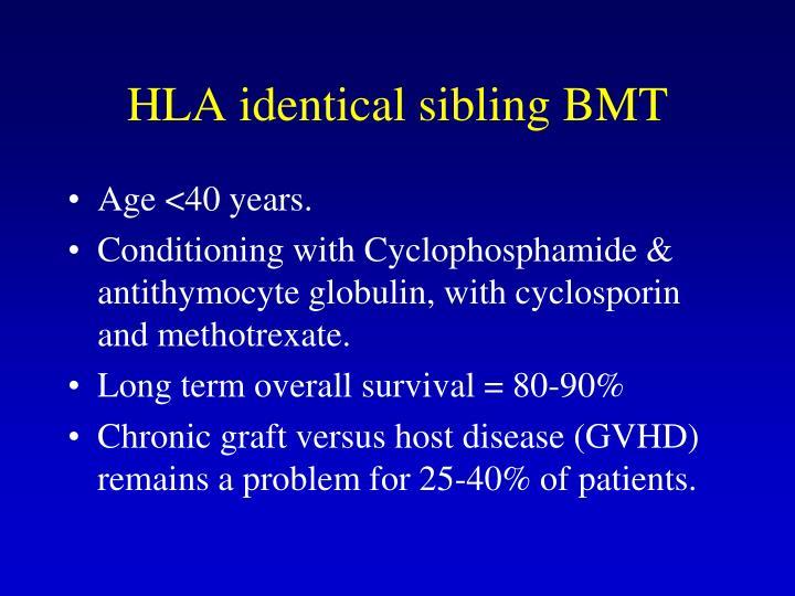 HLA identical sibling BMT