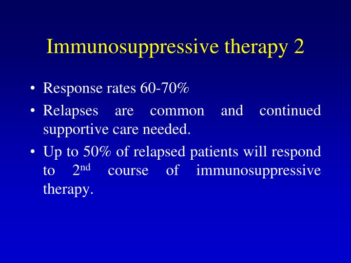 Immunosuppressive therapy 2