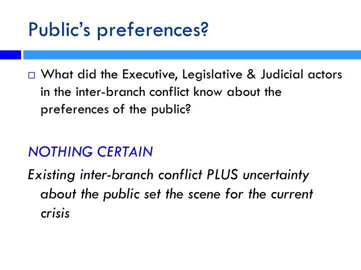 Public's preferences?