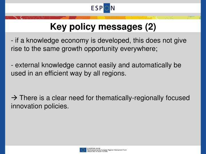 Key policy messages (2)