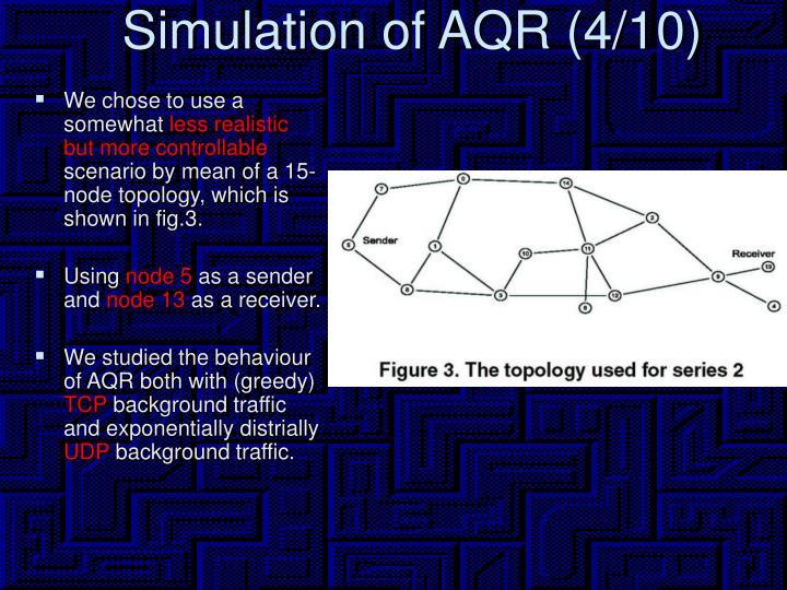 Simulation of AQR (4/10)