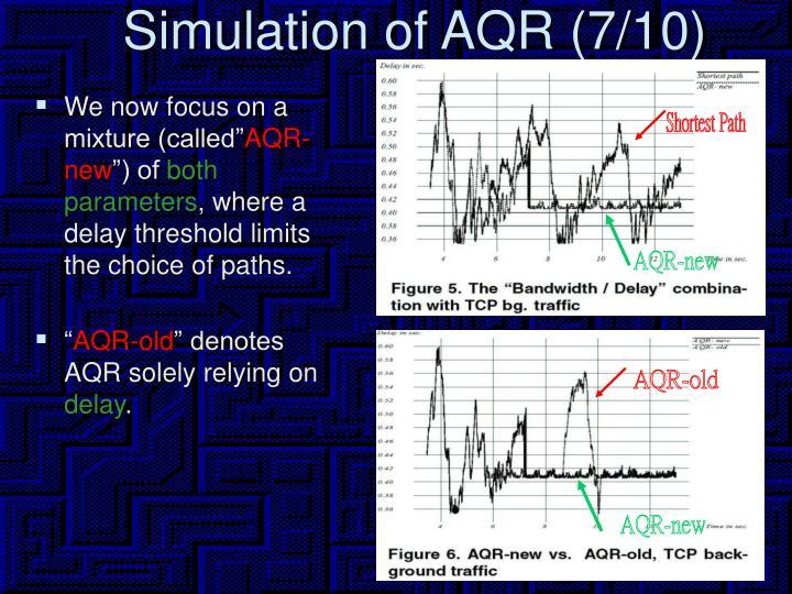 Simulation of AQR (7/10)