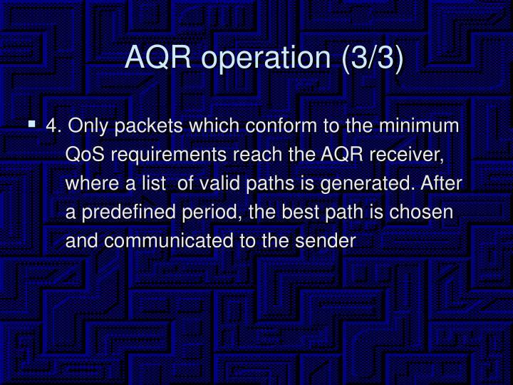 AQR operation (3/3)