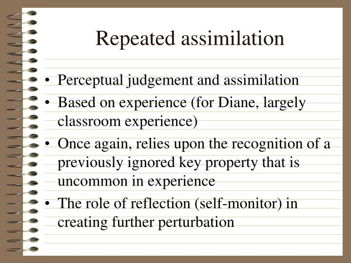 Repeated assimilation