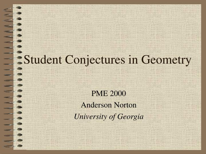 student conjectures in geometry