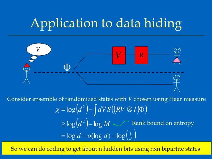 Application to data hiding