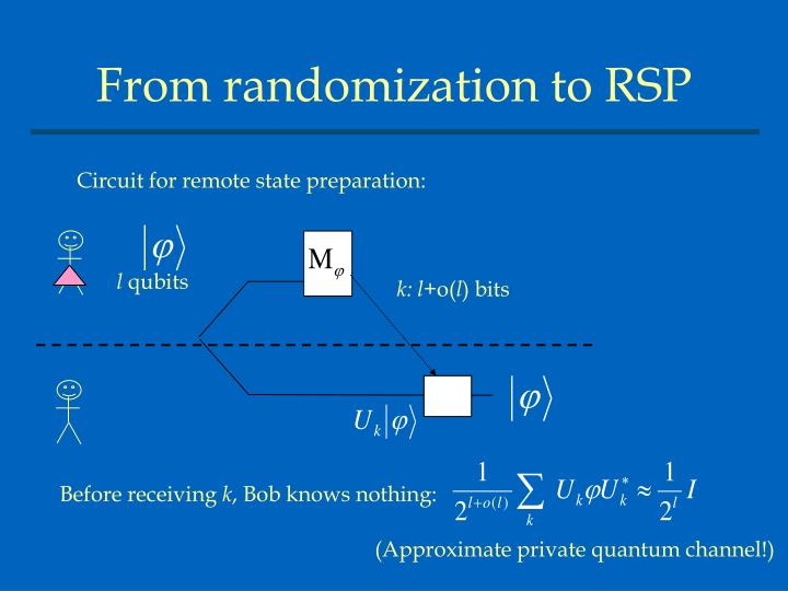From randomization to RSP