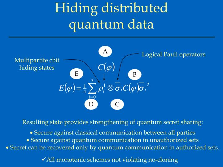Hiding distributed