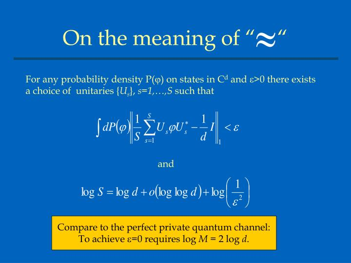 """On the meaning of """"    """""""