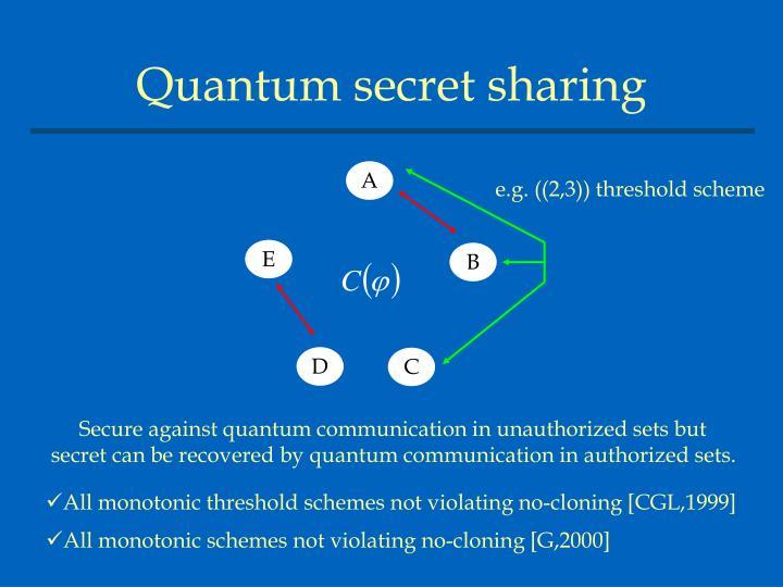 Quantum secret sharing