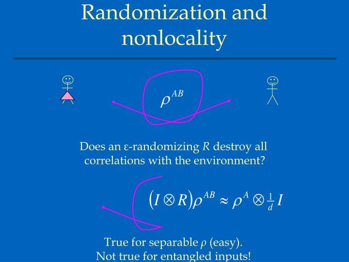 Randomization and nonlocality