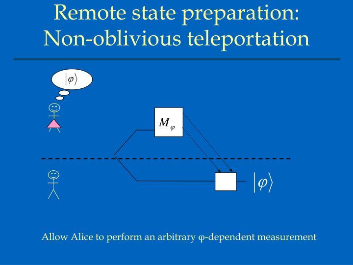 Remote state preparation: