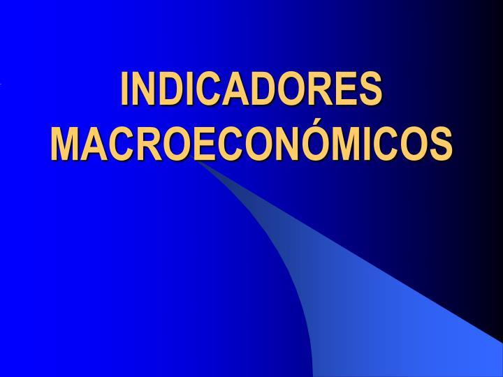 indicadores macroecon micos