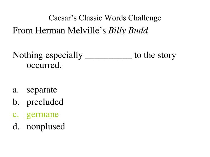 Caesar's Classic Words Challenge