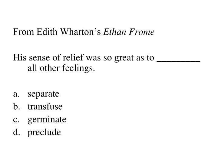 From Edith Wharton's