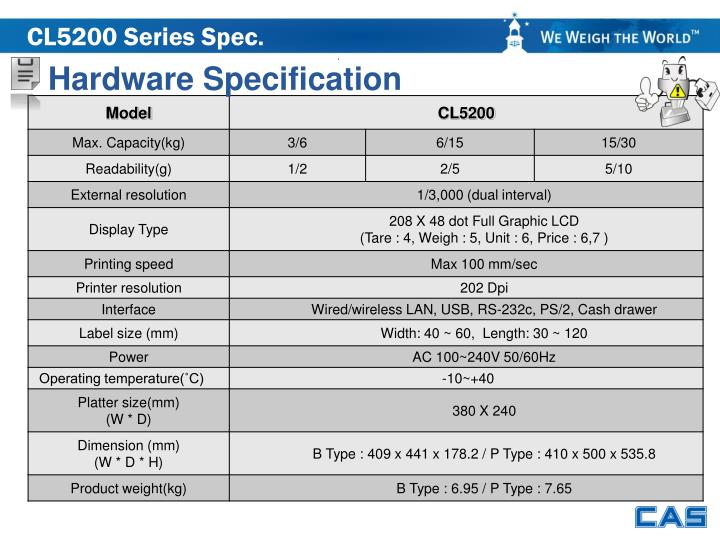 CL5200 Series Spec