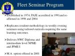 fleet seminar program