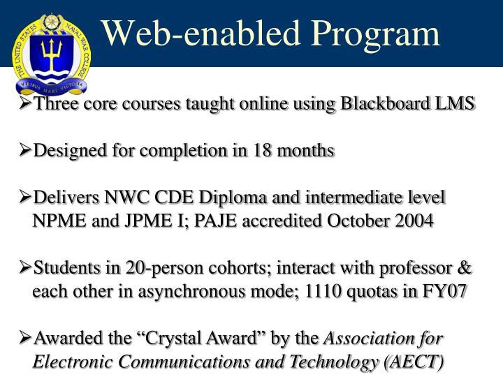 Web-enabled Program