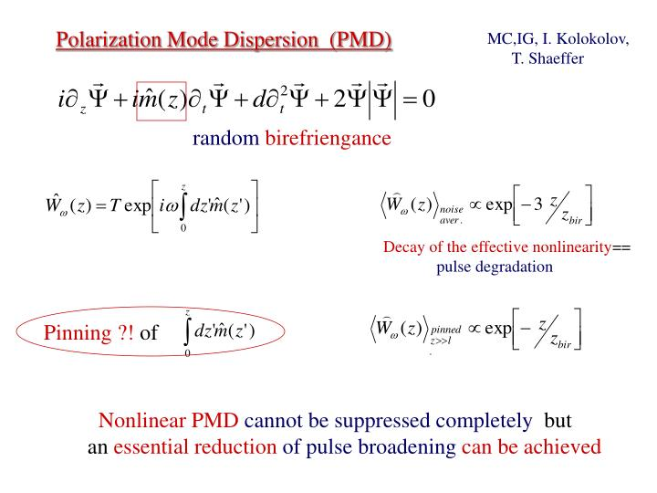 Decay of the effective nonlinearity