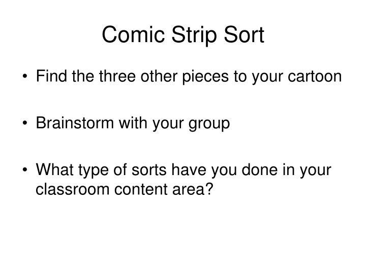 Comic Strip Sort